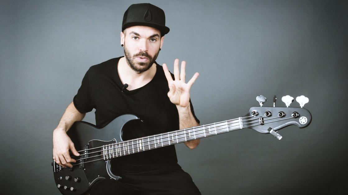 Armonía musical para bajistas - Acordes de 4 notas: Maj7, m7 y 7