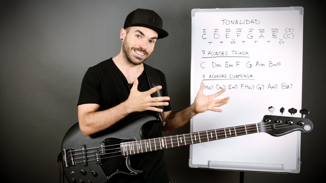 Armonía musical para bajistas - La tonalidad: los 7 acordes diatónicos
