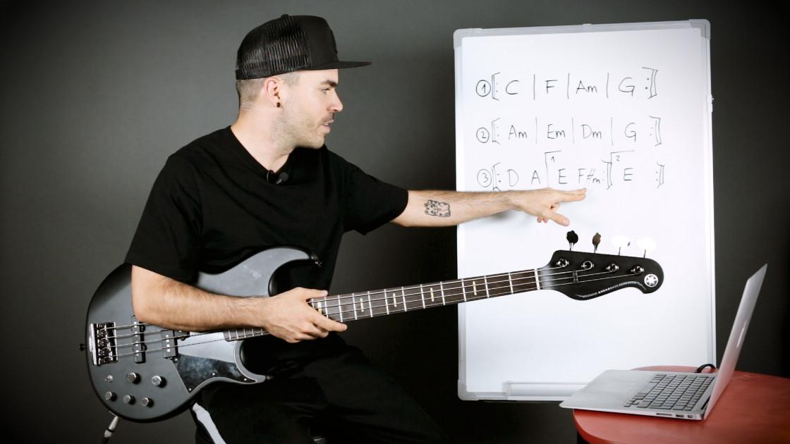 Armonía musical para bajistas - Cómo averiguar la tonalidad de una canción: método 1
