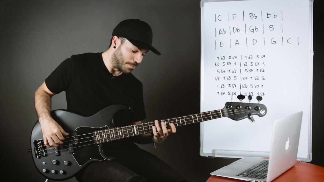 Walking bass - Arpegios m7 con el círculo de cuartas